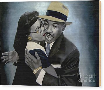 Coretta And Martin Wood Print