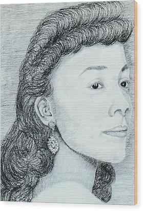 Coretta Scott King Wood Print