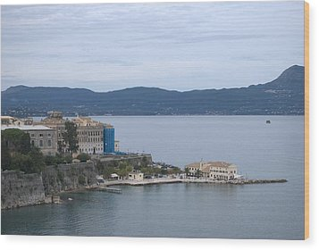 Corfu City 4 Wood Print by George Katechis