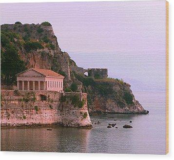 Corfu Pavillion Wood Print