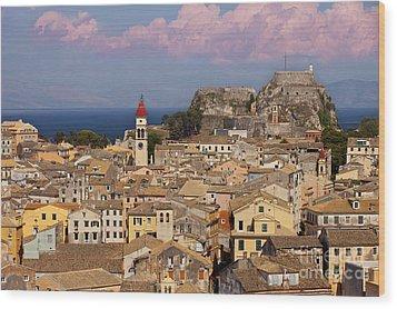 Corfu Town Wood Print by Brian Jannsen