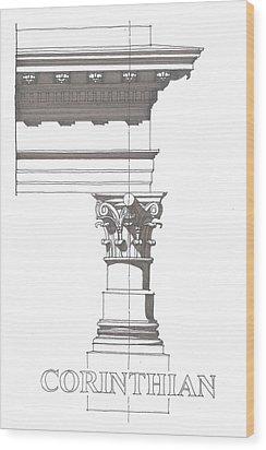 Corinithian Order Wood Print by Calvin Durham