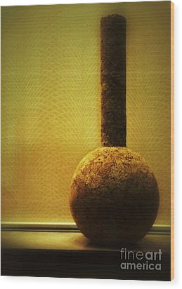 Cork Vase Wood Print