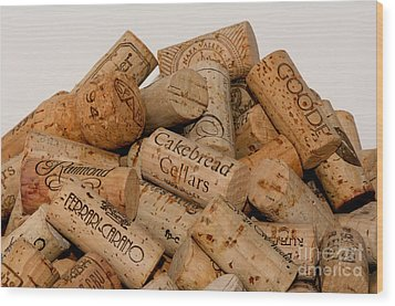 Wood Print featuring the photograph Corks - 11 by Vinnie Oakes