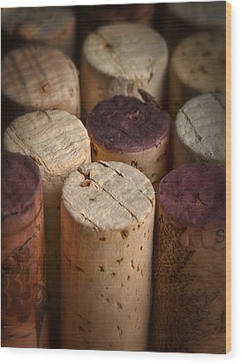 Corks Wood Print by Dennis James