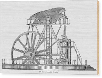 Corliss Steam Engine, 1876 Wood Print by Granger