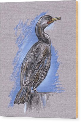 Cormorant Wood Print by MM Anderson