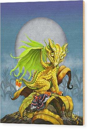 Corn Dragon Wood Print