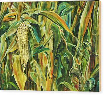 Spirit Of The Corn Wood Print