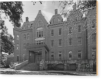 Cornell College Bowman Carter Hall Wood Print by University Icons