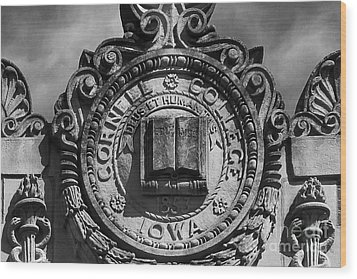 Cornell College Seal Wood Print by University Icons