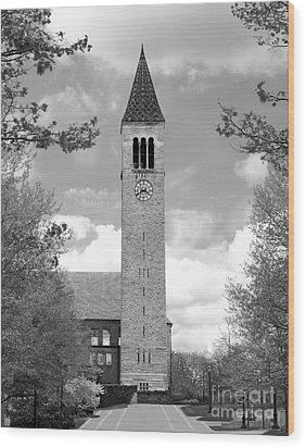 Cornell University Mc Graw Tower Wood Print by University Icons