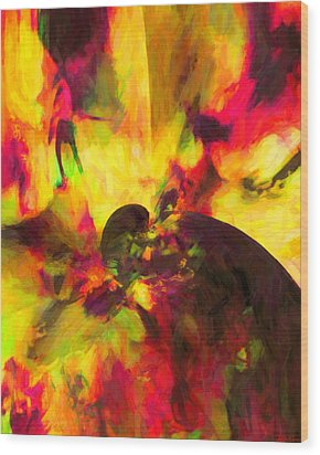 Wood Print featuring the digital art Corner Of Discovery by Joe Misrasi