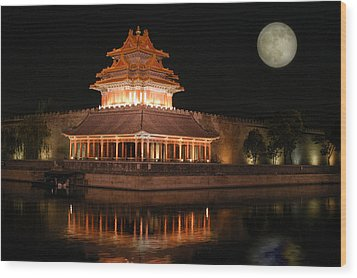Wood Print featuring the photograph Corner Of Forbidden City by Yue Wang