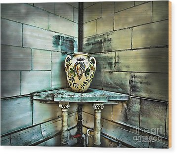 Corner Vase Wood Print by Joan  Minchak