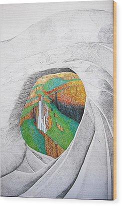 Cornered Stones Wood Print by A  Robert Malcom