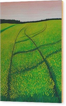 Cornfield Wood Print by Sven Fischer