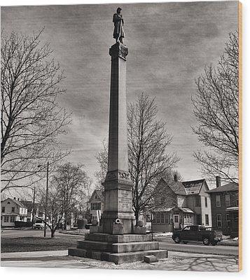 Corning Civil War Monument Wood Print by Joshua House