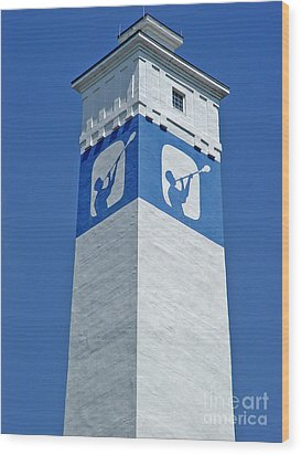 Wood Print featuring the photograph Corning Little Joe Tower 1 by Tom Doud