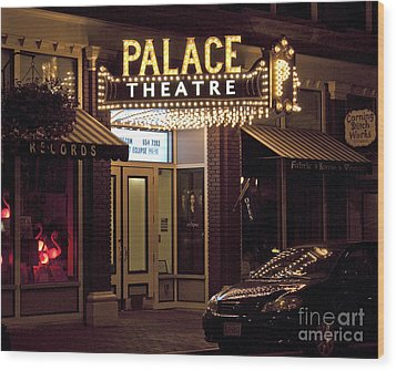 Corning Palace Theatre Wood Print by Tom Doud