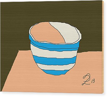 Cornish Bowl Wood Print by Anita Dale Livaditis