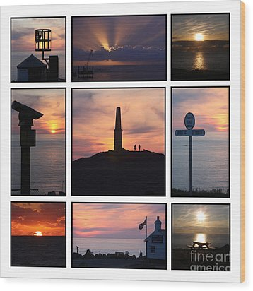 Wood Print featuring the photograph Cornish Sunsets by Terri Waters