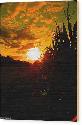 Cornset Wood Print