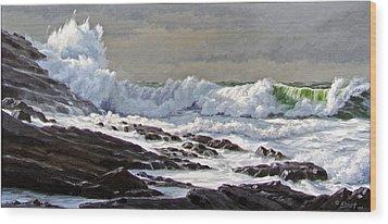 Cornwall Coast Wood Print by Paul Krapf