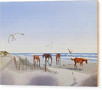 Corolla Beach Wood Print