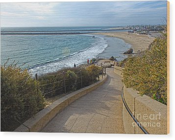 Corona Del Mar Beach View - 01 Wood Print by Gregory Dyer