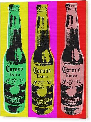 Corona Beer Wood Print