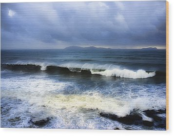 Coronado Islands In Storm Wood Print by Hugh Smith