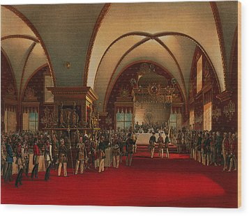 Coronation Banquet Wood Print by Vasily Timm