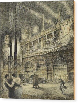 Coronation Evening London 1937 Wood Print by Jack Coburn Witherop