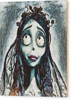 Corpse Bride Wood Print by Joe Misrasi