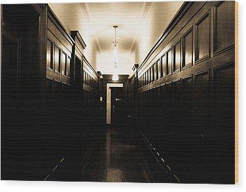 Corridor Wood Print by Fatemeh Azadbakht