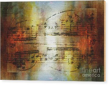 Corroded Cadence Wood Print by Lon Chaffin
