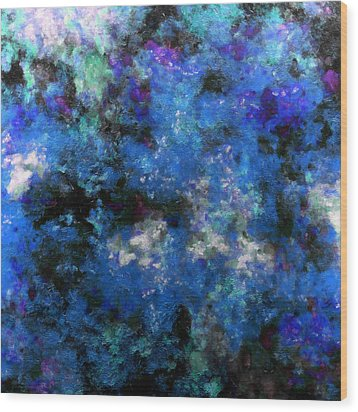 Corrosion Bleue Wood Print by RochVanh