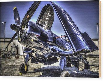 Corsair 454 Wood Print by Spencer McDonald