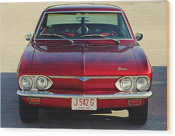 Corvair Wood Print by Frozen in Time Fine Art Photography