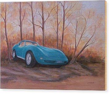 Corvette 1974 Wood Print by Jane Landry  Read
