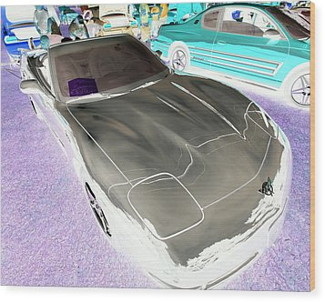 Wood Print featuring the photograph Corvette 2003 50th Anniv. Edition by John Schneider