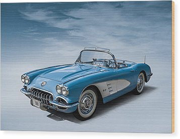 Corvette Blues Wood Print