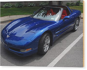 Corvette By Chevrolet At Fifty Wood Print by John Schneider