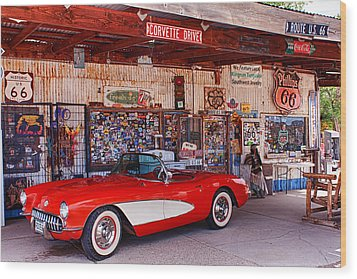 Corvette Drive Rt 66 Wood Print
