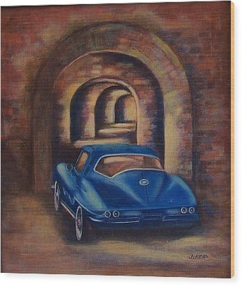 corvette Fort Mccomb Wood Print by Jane Landry  Read