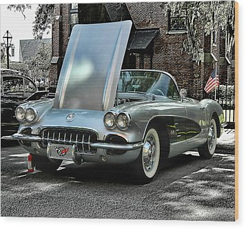 Wood Print featuring the photograph Corvette by Victor Montgomery