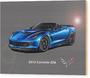 Corvette Z06 Convertible Wood Print