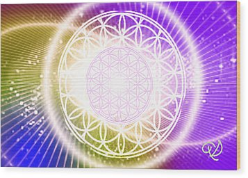 Cosmic Adjustment Wood Print by Ute Posegga-Rudel