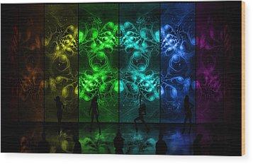 Cosmic Alien Vixens Pride Wood Print